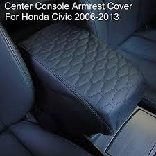 pu leather center console armrest cover