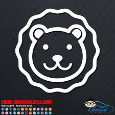 Fun Lion Vinyl Window Decal Sticker Graphic