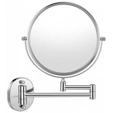 wall mount makeup mirror silver 7x