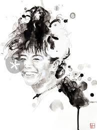 "Portrait of Hiromi Uehara"" Painting art prints and posters by Philippe  Debongnie - ARTFLAKES.COM"
