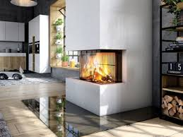 double sided wood burning fireplace