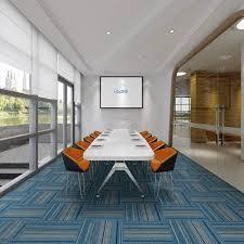 Carpet Tiles Commercial Carpet Tiles Carpet Floor Tiles Carpet Tile 20x20inch For Bedrooms Living Rooms Kids Rooms Office Decor With Anti Slip Asphalt Bottom Backing Blue Stripe 705 24tiles