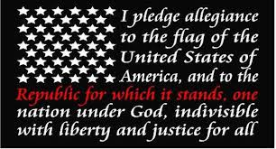 American Flag Pledge Of Allegiance Thin Red Line Window Decal Etsy