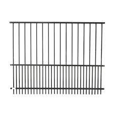 Steel Diy Pet Fence Panel 72 X 46 Inches Black Aleko