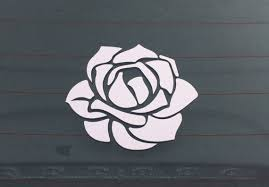 Flower Car Decal Vinyl Car Decal Rose Car Decal Car Vinyl Etsy Car Decals Vinyl Car Decals Flower Car