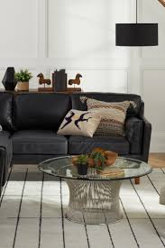 black furniture in your living room