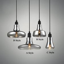 modern smoke gray glass pendant lights