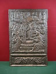 cast iron renaissance style fireplace