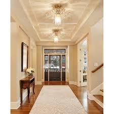 Crystal Ceiling Light Twinkle Art Deco Hanging Modern Entryway Kids Room Flower Chandeliers For Bedrooms
