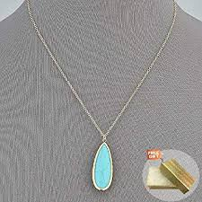 gold dainty chain turquoise stone