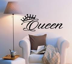 Vinyl Wall Decal Stickers Bedroom Decor Words Queen Inspiring Letters Wallstickers4you