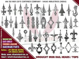 Decorative Wrought Iron Ornamental Iron Components Fencing Railing Hardware Parts Gate Grill Items Exporters In India Uk Usa Germany Italy Canada Uae Decorative Wrought Iron Ornamental Iron Components Fencing