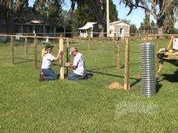 Dog Kennel Fence Installation Part 2 Of 2 Youtube