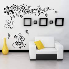 Amazon Com Supzone Flowers Vine Wall Decals Black Flowers Wall Stickers Butterfly Wall Decor Removable Vinyl Diy Home Wall Art Stickers For Bedroom Living Room Sofa Backdrop Tv Wall Decoration Kitchen Dining