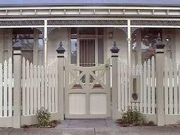 Australian Nouveau Wooden Fence Panels Google Search Front Yard Fence Fence Design Outdoor Gate