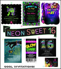neon glow in the dark sweet 16 party