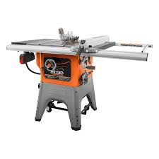 Ridgid 13 Amp 10 Inch Professional Cast Iron Table Saw The Home Depot Canada