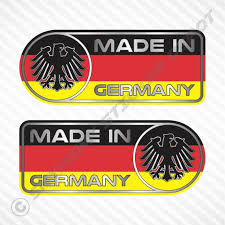Made In Germany Car Sticker Set Vinyl Decal German Flag Etsy