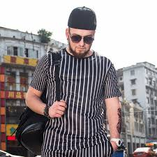 Large Size Men's Striped T-shirt Summer New Increase Plus Fat 佬  Compassionate 3d Printing Tide Fat Short-sleeved T-shirt Male
