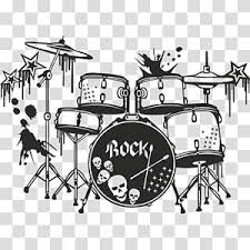 Violin Bass Drums Drum Kits Music Wall Decal Snare Drums Double Bass Tomtoms Transparent Background Png Clipart Hiclipart
