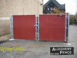 Pittsburgh Industrial Chain Link Fence Screen Slats Allegheny Fence