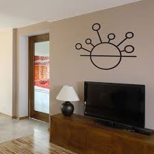 Abstract Sunrise Circles And Lines Vinyl Wall Decal