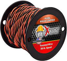 Amazon Com Extreme Dog Fence 16 Gauge Transmitter Wire 50 Foot Spool Of Pre Twisted Cable Compatible With All Wired Electric Dog Fence Systems Extreme Dog Fence Wireless Pet Fence Products Pet Supplies