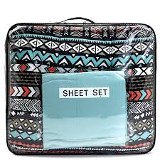 aztec print 7 piece full comforter set