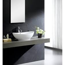 fine fixtures modern ceramic oval