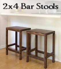 half lap bar stool from 2x4s