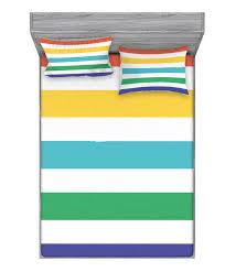 East Urban Home Rainbow And Fun Horizontal Lines Kids Room Striped Sheet Set Wayfair