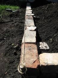 brick raised bed with no mortar no