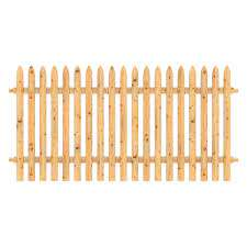 Outdoor Essentials 4 Ft X 8 Ft Cedar Doweled Spaced Picket Fence Panel 413400 The Home Depot