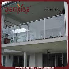 modern handrail exterior glass railing