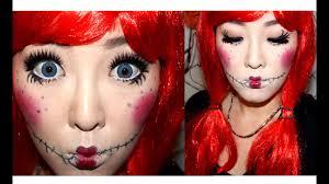 cute rag doll halloween makeup tutorial