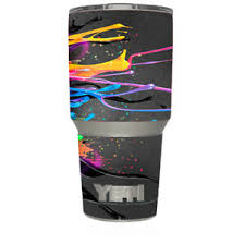 Yeti 30oz Sticker Decal Set For Your 30 Oz Tumbler Neon Paint Splatter 648620504852 Ebay