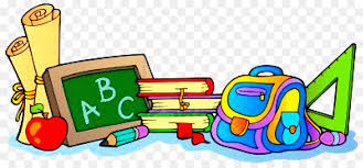 Cartoon School Supplies clipart - School, Cartoon, Illustration ...