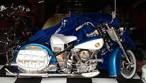 1957 harley davidson pan head show bike