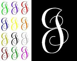 Amazon Com One Single Letter J Monogram Decal 3 Tall White Or Choose From 13 Colors No Background Made By Maple Creek Everything Else