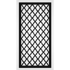 Trex Morocco 2 Ft X 4 Ft Black Vinyl Decorative Screen Panel Pack Of 2 2448tx 1 5 Bk Mcc The Home Depot In 2020 Decorative Screen Panels Decorative Screens Decorative Fence Panels