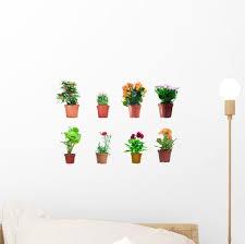 Set Potted Plants Wall Stickers Wall Decal Wallmonkeys Com
