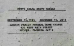 Betty Zelma Smith Morgan (1945-2015) - Find A Grave Memorial