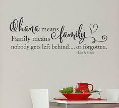 Ohana Means Family Lilo Stitch Wall Door Vinyl Decal Sticker Ebay
