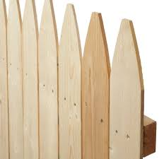 Barrette 6 Ft H X 8 Ft W Flat Rough Sawn Stockade Fence Panel 73000470 The Home Depot Stockade Fence Fence Panels Fence