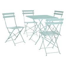 sage green metal folding garden table