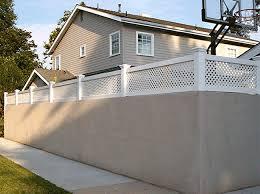 Vinyl Block Wall Extentions Vinyl Solid Fencing California Los Angeles Van Nuys Burbank Valencia