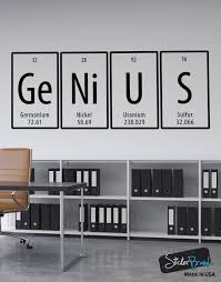 Genius Quote Periodic Table Vinyl Wall Decal Sticker 6058 Stickerbrand