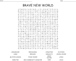 Brave New World Review Game Crossword ...