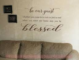 Be Our Guest Vinyl Lettering Decals Wall Stickers For Entry Home Decor