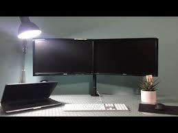 my first glass desk setup you